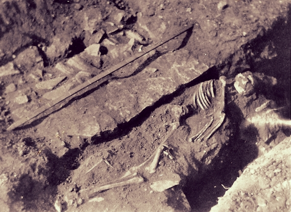 Late burial from Norton Disney Roman villa (Oswald 1937)