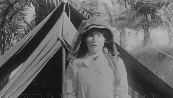 Gertrude Bell in the Middle East, just a few years prior to the outbreak of WW1