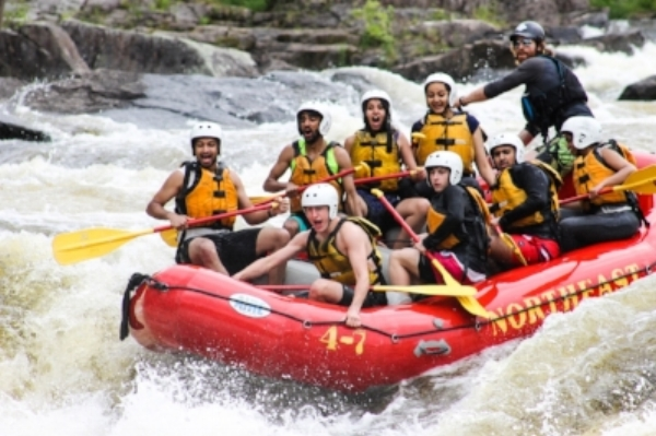 Jack leading a rafting trip in Maine.