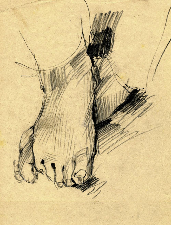 'The Hand of the Artist's Daughter', Alphonse Legros 1837 - 1911 .