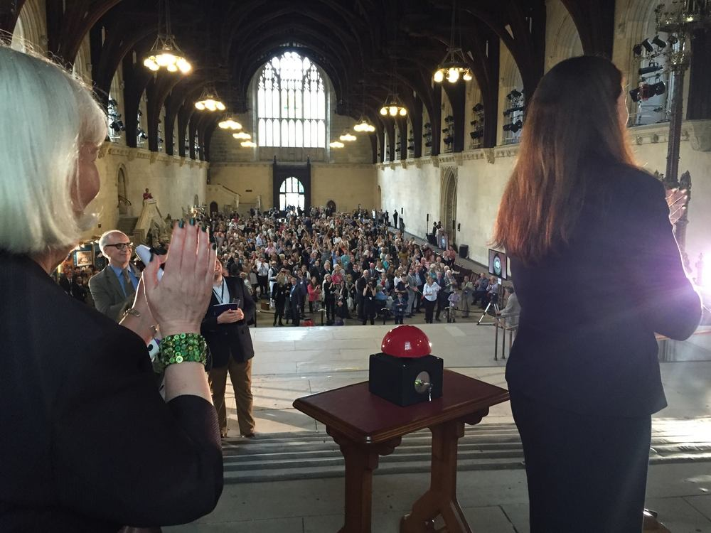 The New Dawn unveiling to a packed Westminster Hall Photo Credit: Kerry Wilson