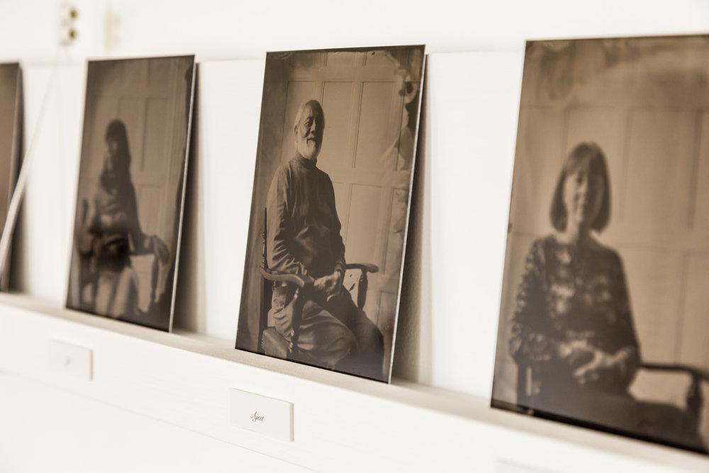 Tintype portraits.