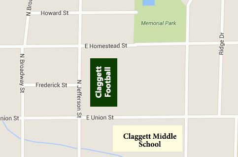 Home Claggett Field, Memorial Stadium,                               460 North Jefferson St., Medina, OH 44256