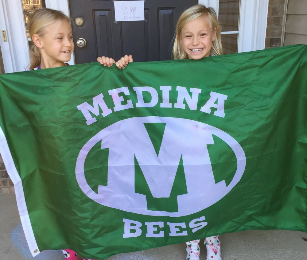 Show your Medina Pride and Tweet or email us your favorite Medina Bees Flag Photo!