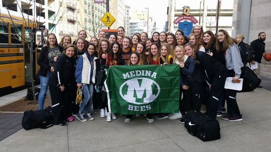 Medina Girls Hoops outside Quicken Loans Arena before the Massillon Jackson game.
