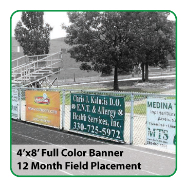 4'x8' Full Color Banner (All Fields) - $1,000
