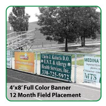 4'x8' Full Color Banner (Soccer) - $350