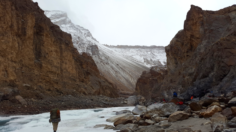 The cold never bothered us anyway at the chadar trek in ladakh