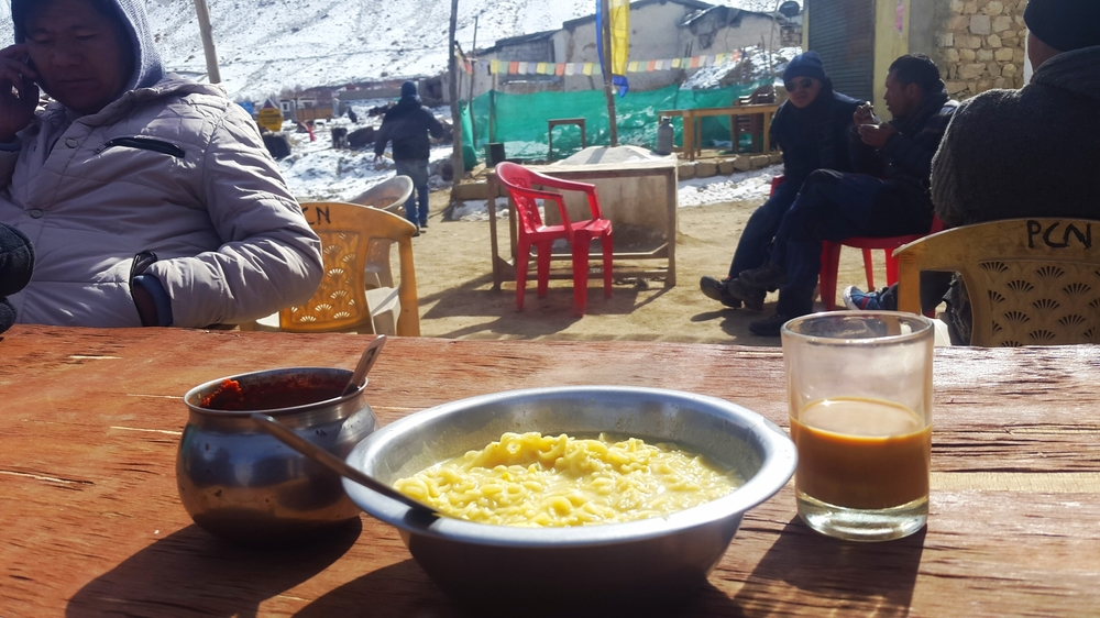 A nondescript khardung la village that served the best maggie and chai!