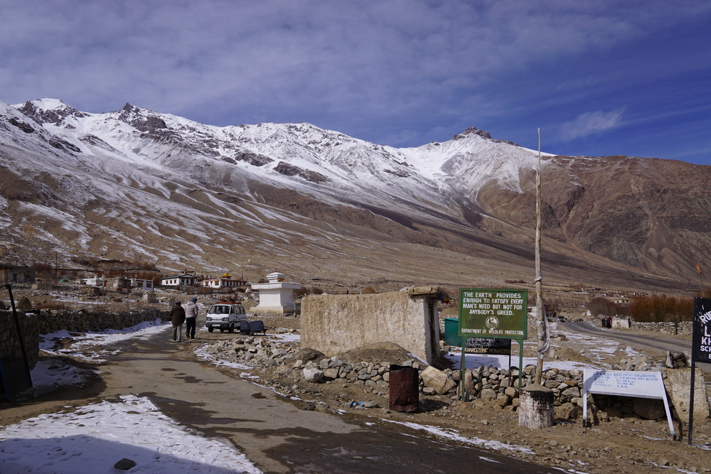 The Khardung Village was serenely beautiful and there were hardly any warm blooded souls here.