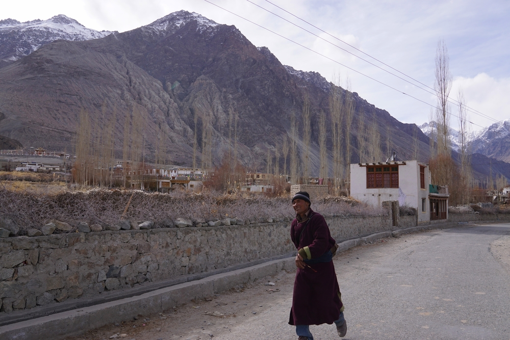 A monk dressed in a dark robe went out of his way to find us a place to stay in nubra valley