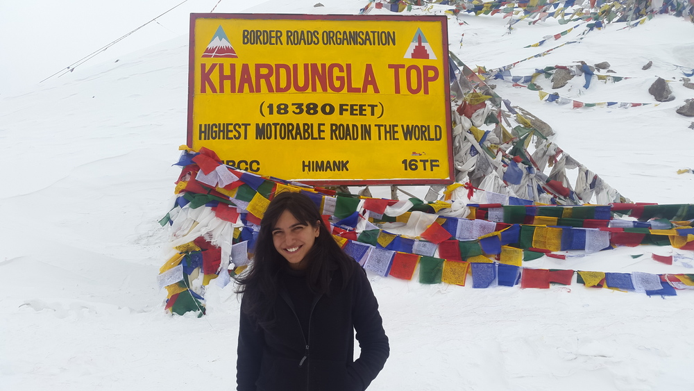 It was so cold that it hurt to even smile. I think I was crying with happiness at the highest motorable road in the world