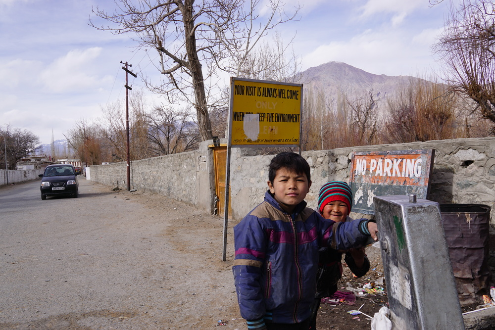 "These kids expression in Nubra Valley says it all... ""Your visit is always welcome"""