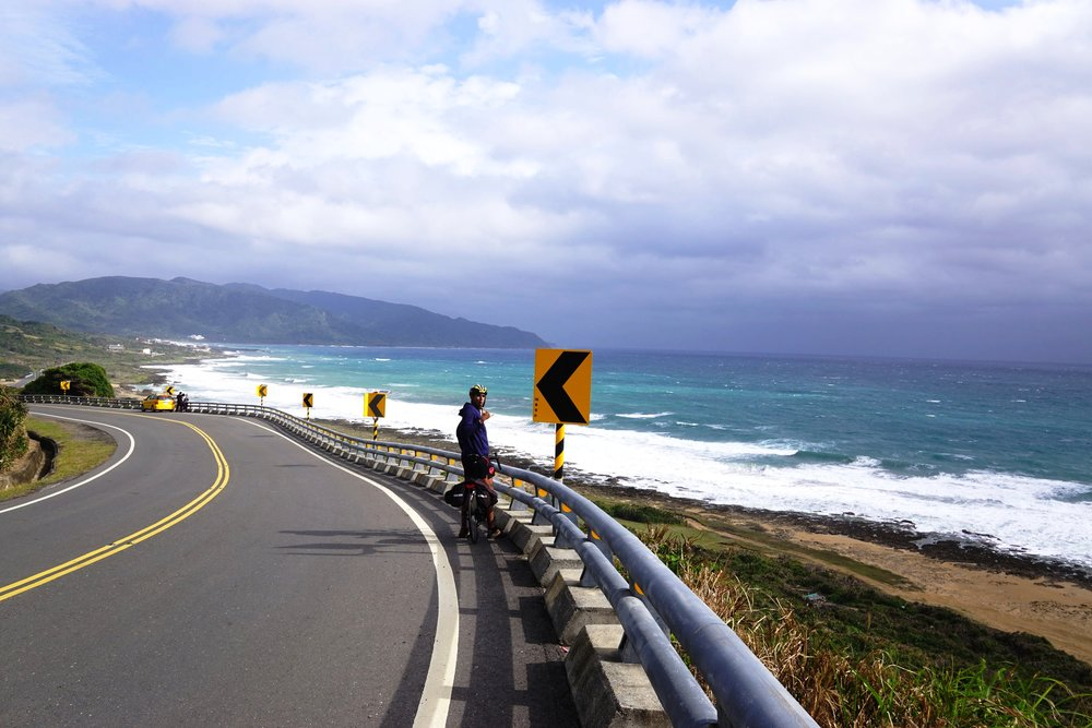 A gruelling ride with crazy head winds in taitung while cycling down taiwan east coast roads