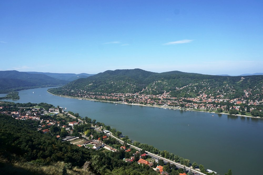 A bird's eye view of the Danube bend.
