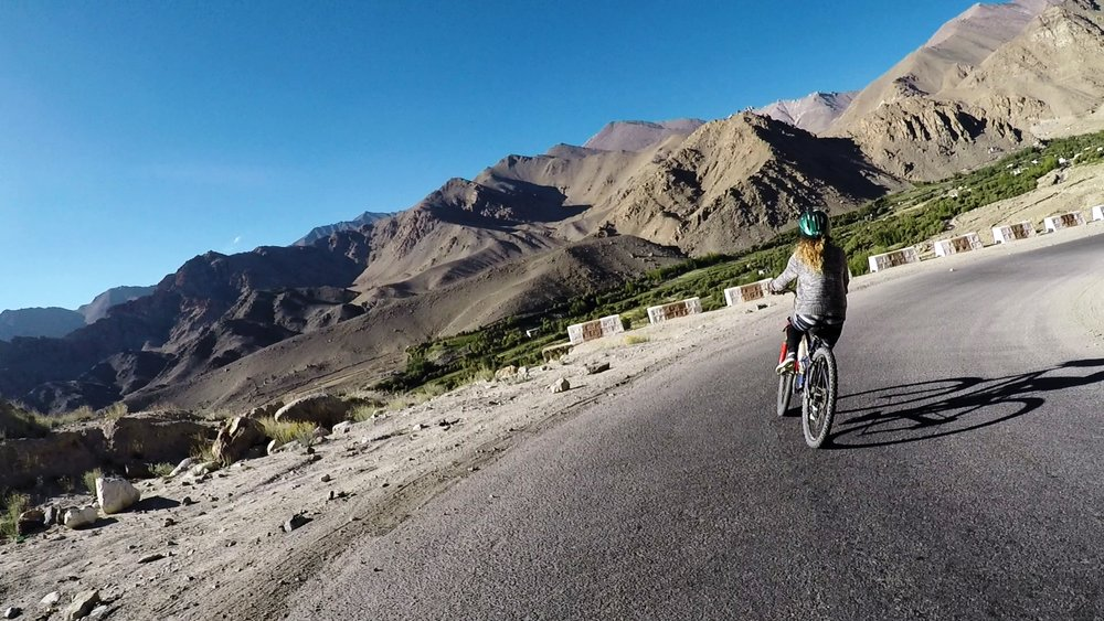 Unending panoramic mountain sights. The view of the Himalayas on a two-wheeler is quite a sight to behold