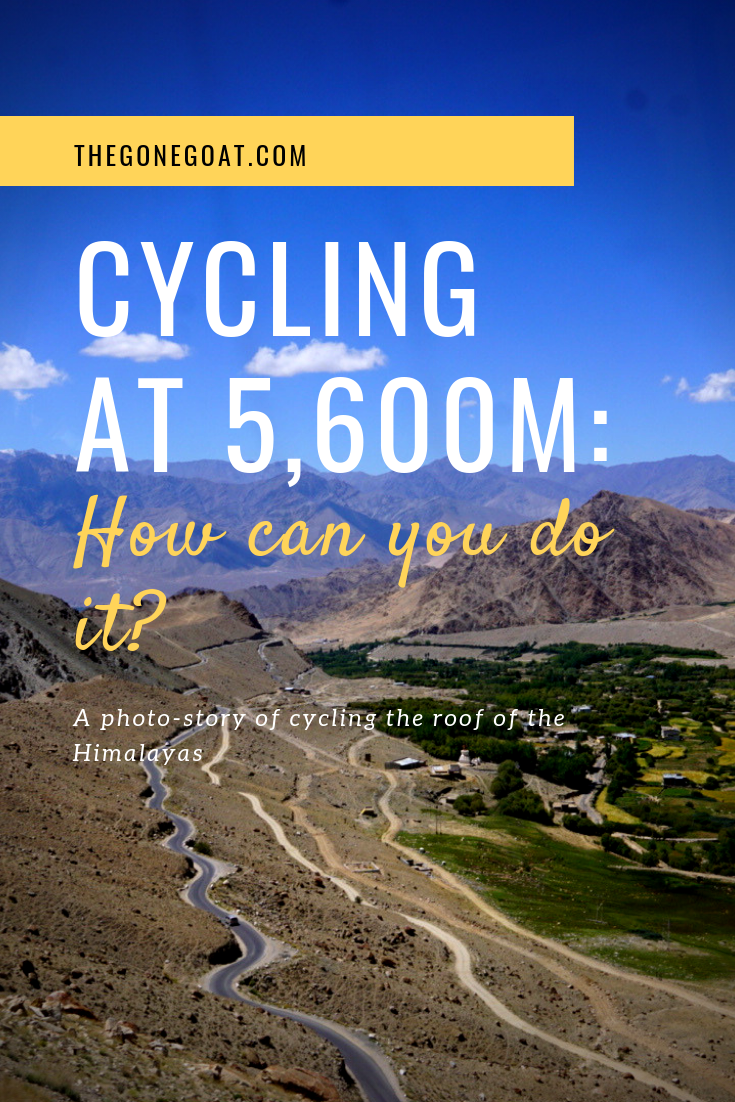 Cycling in stretches as barren as the highest road in the world, Khardung La was the only reminder that this was not that remote and perhaps the 21st century when we had bullets revving during their Leh Ladakh bike trip. #India #Cycling #TravelDestinations #Adventure #KhardungLa