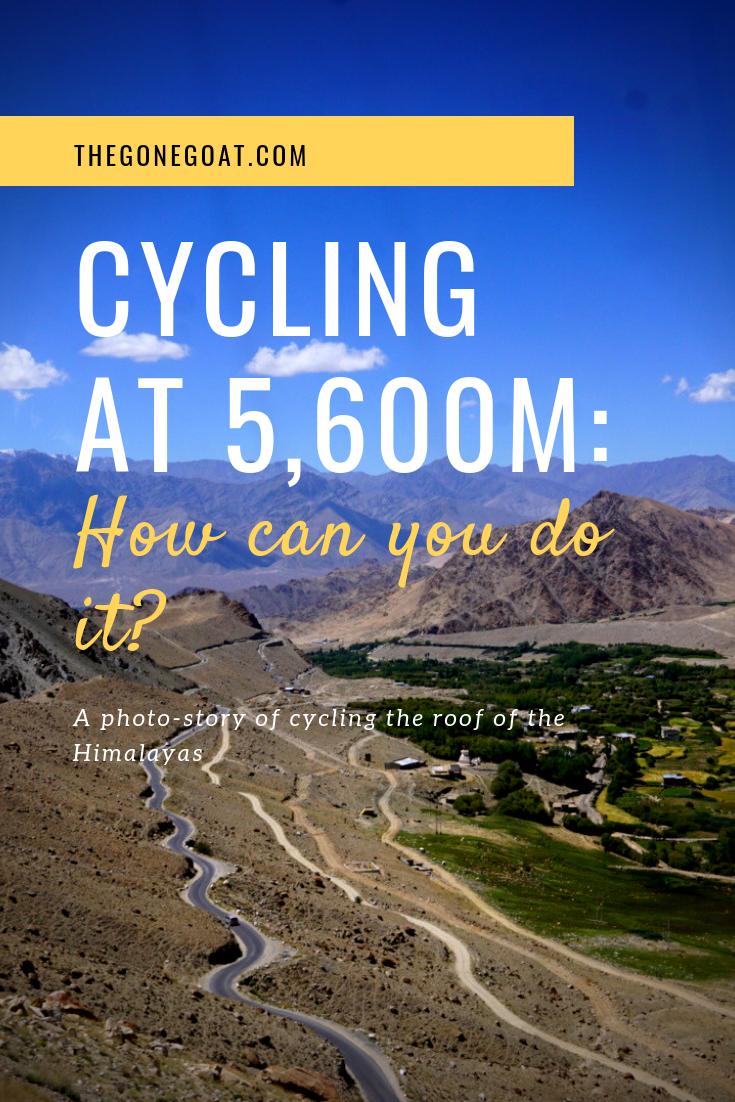 Cycling at 5,600m - Khardung La