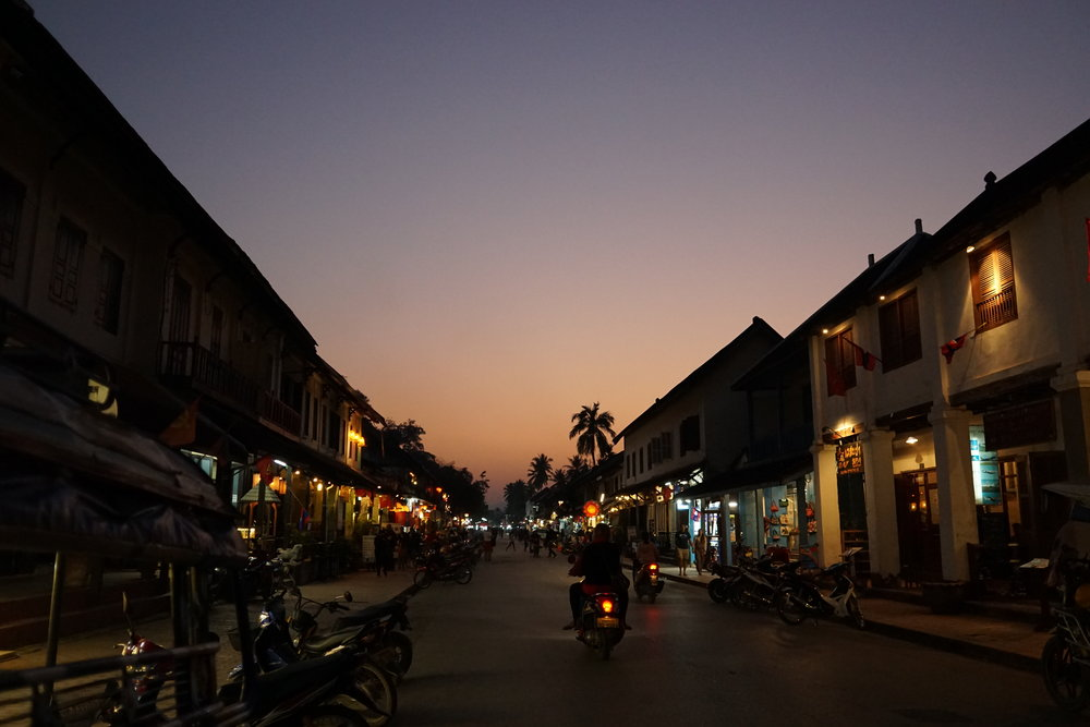 Luang Prabang during sunset, the best places to travel in December and January