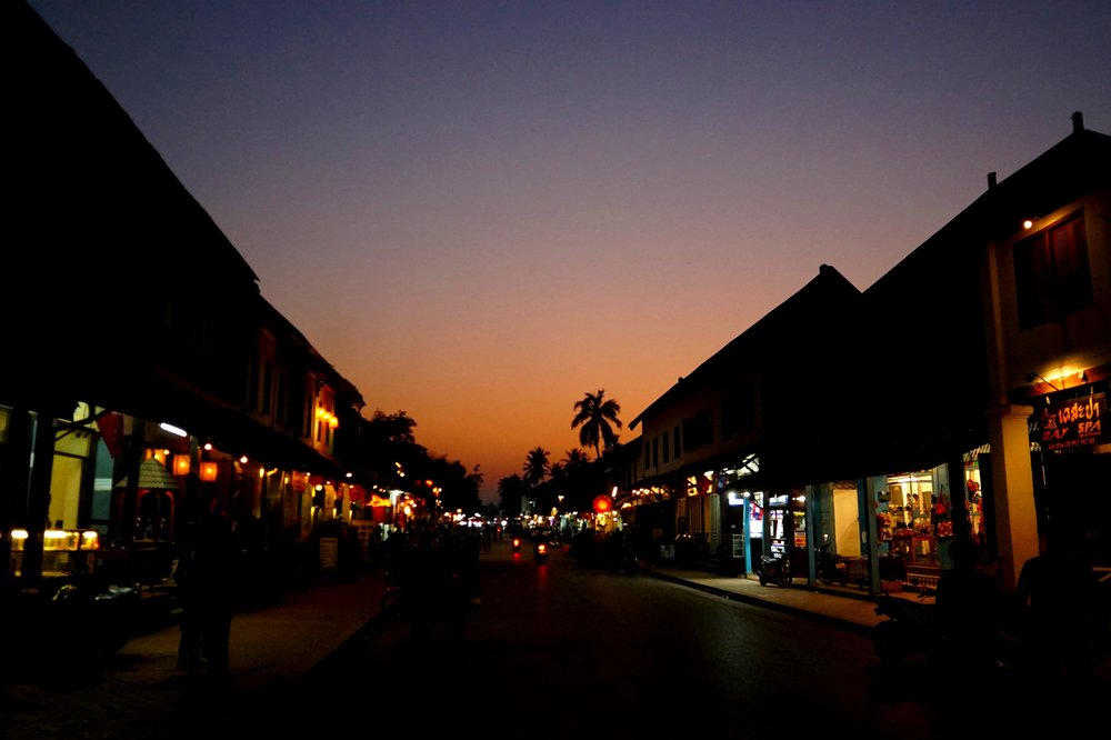 Luang prabang at sundows, best place to travel solo in asia