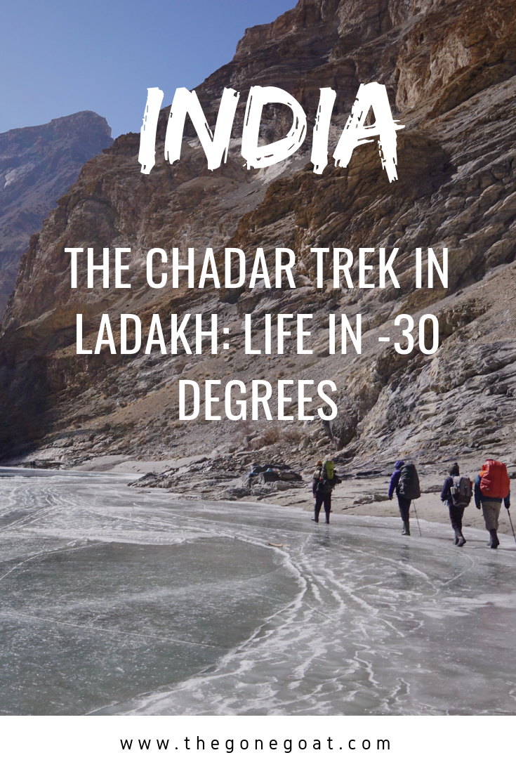 -30 and freezing cold temperatures - The Chadar Trek in Ladakh. Ever wondered what's it like to experience trekking in India's most wildest trek in Ladakh? #India #Ladakh #ChadarTrek #Hiking #Himalayas #Trekking