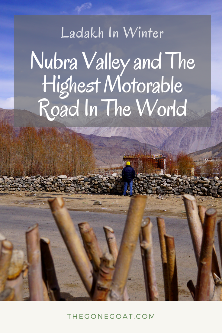 The journey in Ladakh Winters continues as I head to Nubra Valley and the highest motorable road in the world, Khardung La. #India #Himalayas #KhardungLa #WorldHighestMotorableRoad #Ladakh
