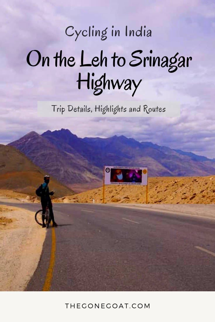 Cycling or Cycle Touring in India is quite the dream: The snow-peaks, the contentment, the thin clear air and general sense of exhilaration teaches you to slow down and appreciate the many colours of nature. #Cycling #CycleTouring #India #Asia #BicycleTouring #Ladakh #Srinagar #Himalayas