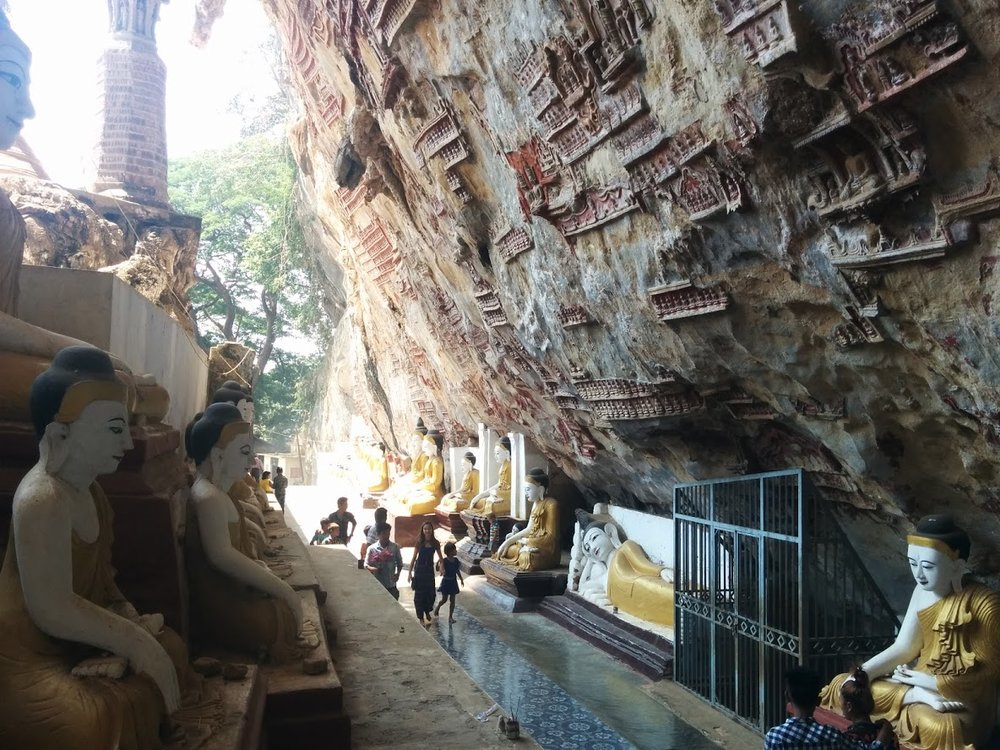 kawgoon cave in Hpa-an makes it an unusual place to visit in myanmar's kapin state. PC: Ferna
