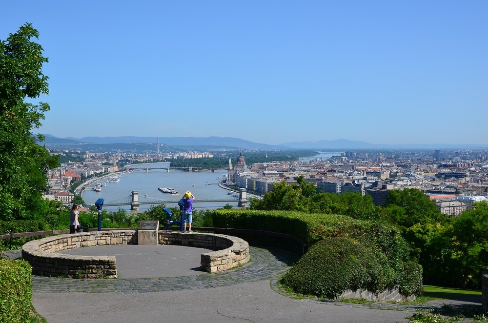 A 15 minute climb up the Gellert Hill to have a bird's eye view of the Danube. Image by mkoziol on Pixabay