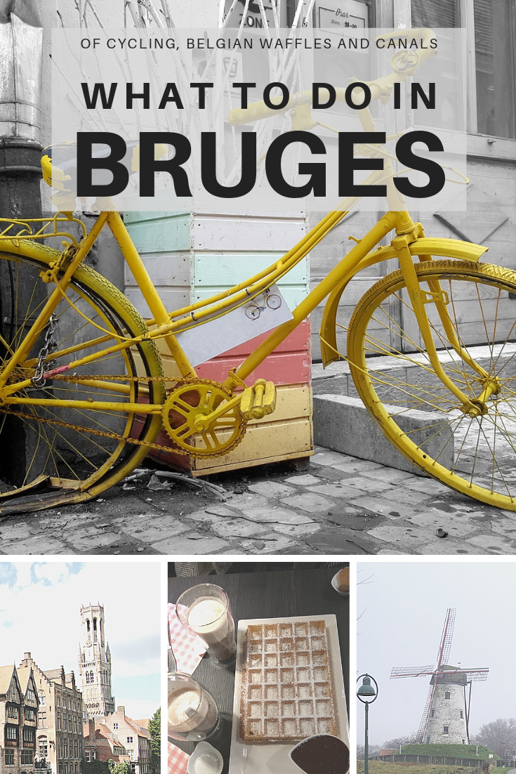 Bruges, a medieval town: I often wondered why this charming little city was famous and what were the things to do? From cycling to tasting waffles, here's what to do in Bruges if you have more than 48 hours and the weekend to spend. #Bruges #Belgium #EuropeTravel #TravelDestinations #SoloDestinations #CyclingEurope #Travel