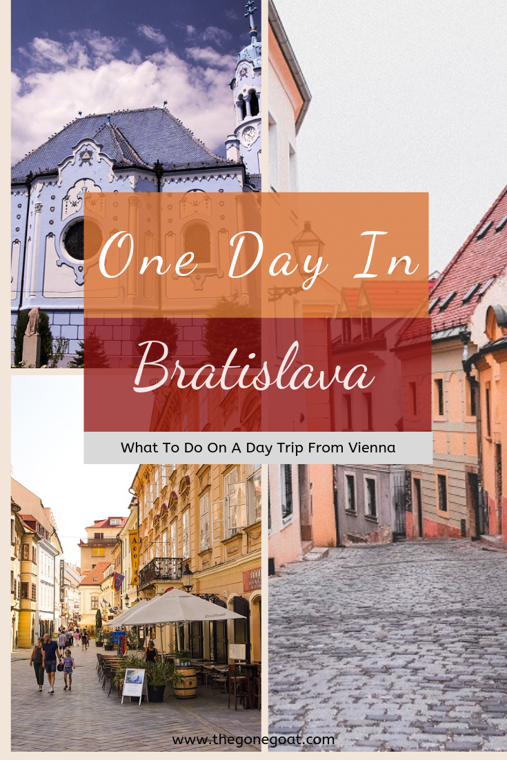 It was the odd juxtaposition of skyscrapers against the old-town cobbled-streets that brought new life and quirks to the city's landscape. Here are some of the things to do in Bratislava in one day if you're on a day trip from Vienna. #Bratislava #Slovakia #OneDayInBratislava #DayTripVienna #Europe #Danube #SoloDestinations #TravelEurope #Travel