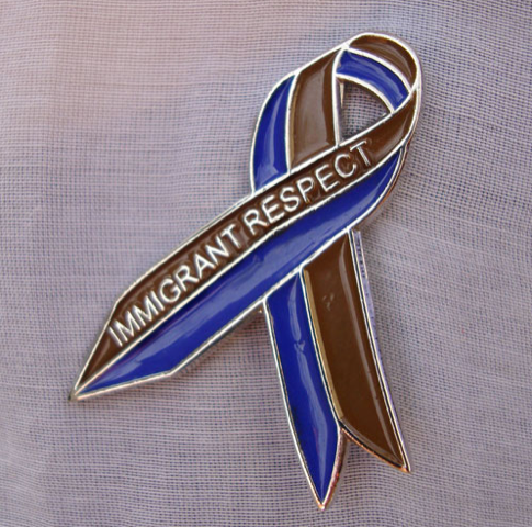 Tania Bruguera, Awareness Ribbon for  Immigrant Respect Campaign  (2011)