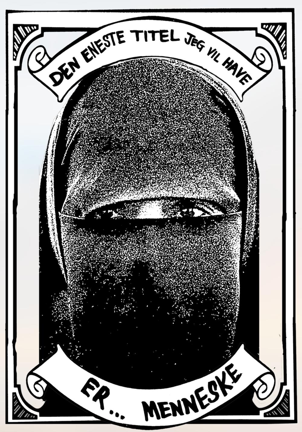 Abdul Dube,  Den eneste titel jeg vil have er... menneske  (2011/2018). Silketrykplakat, A2. © Abdul Dube