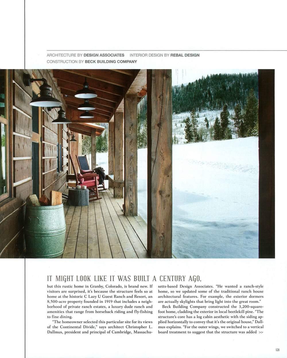 Colorado Dude Ranch | Mountain Living 2015 | Design Associates Inc