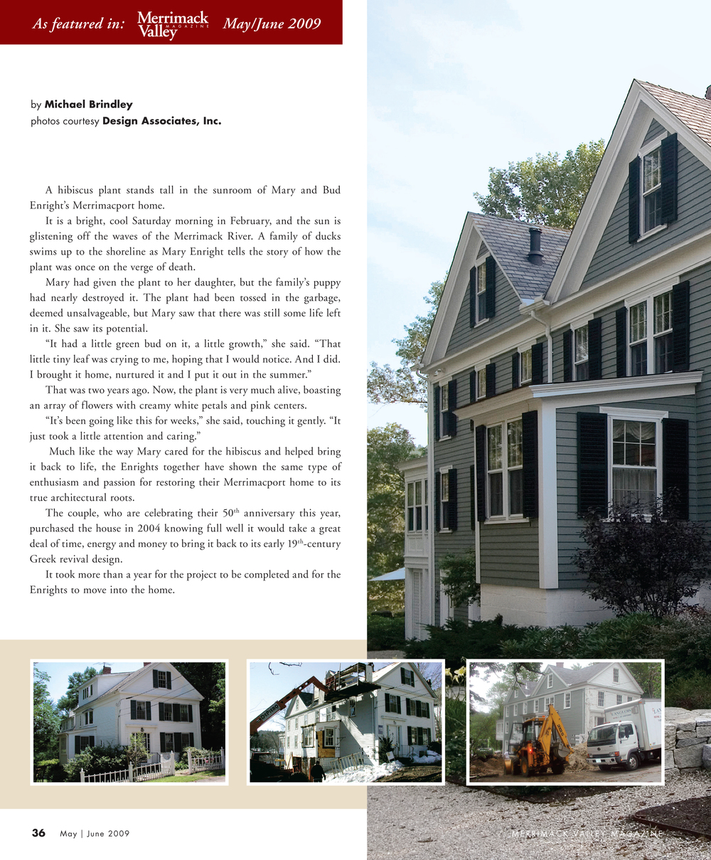 Merrimacport House | Merrimack Valley 2009 | Design Associates Inc