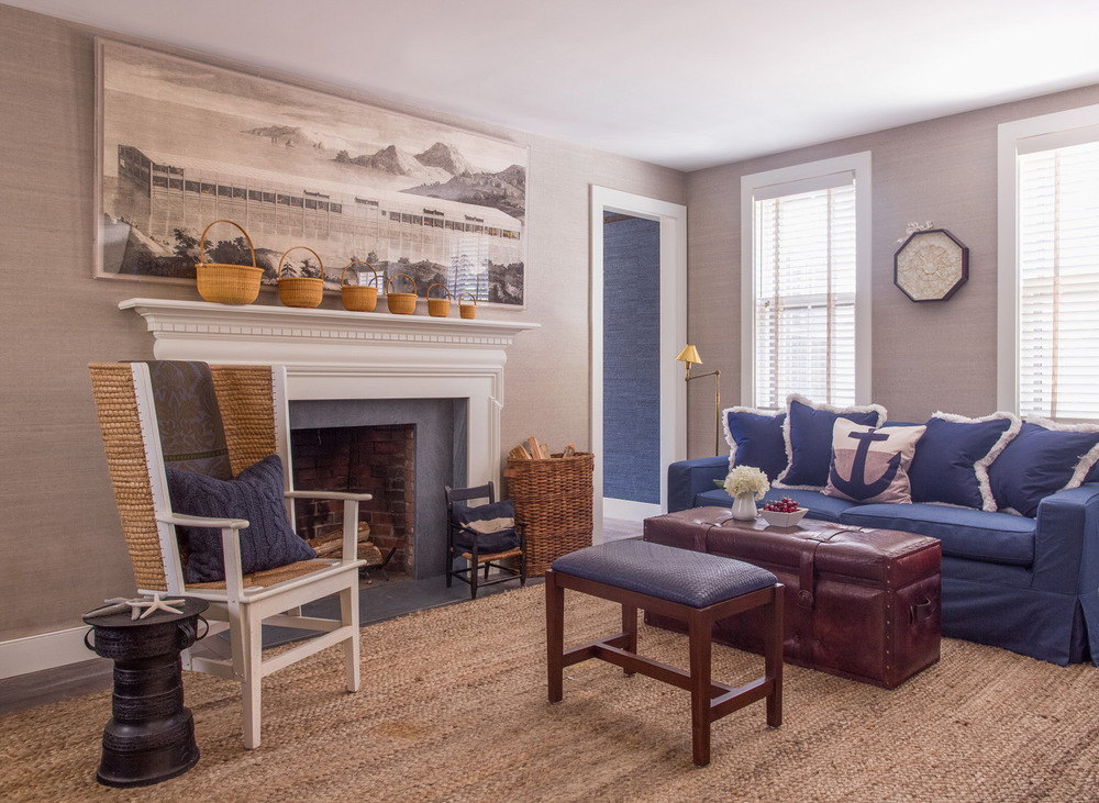 Small Nantucket Cottage | Family Room | Design Associates Inc.