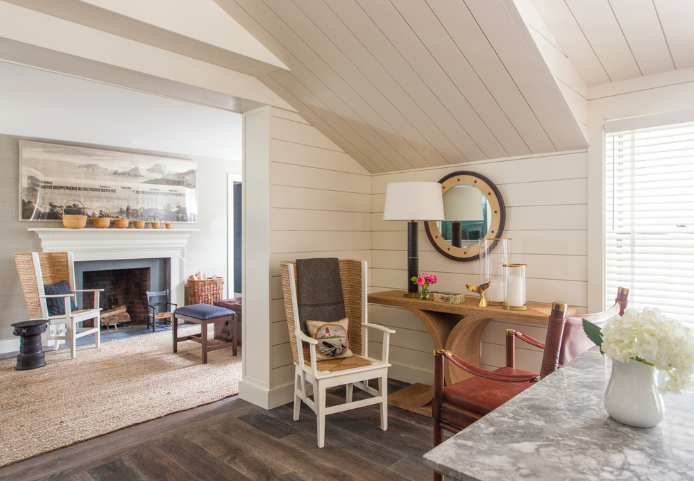Small Nantucket Cottage | Warm Corner Space | Design Associates Inc.