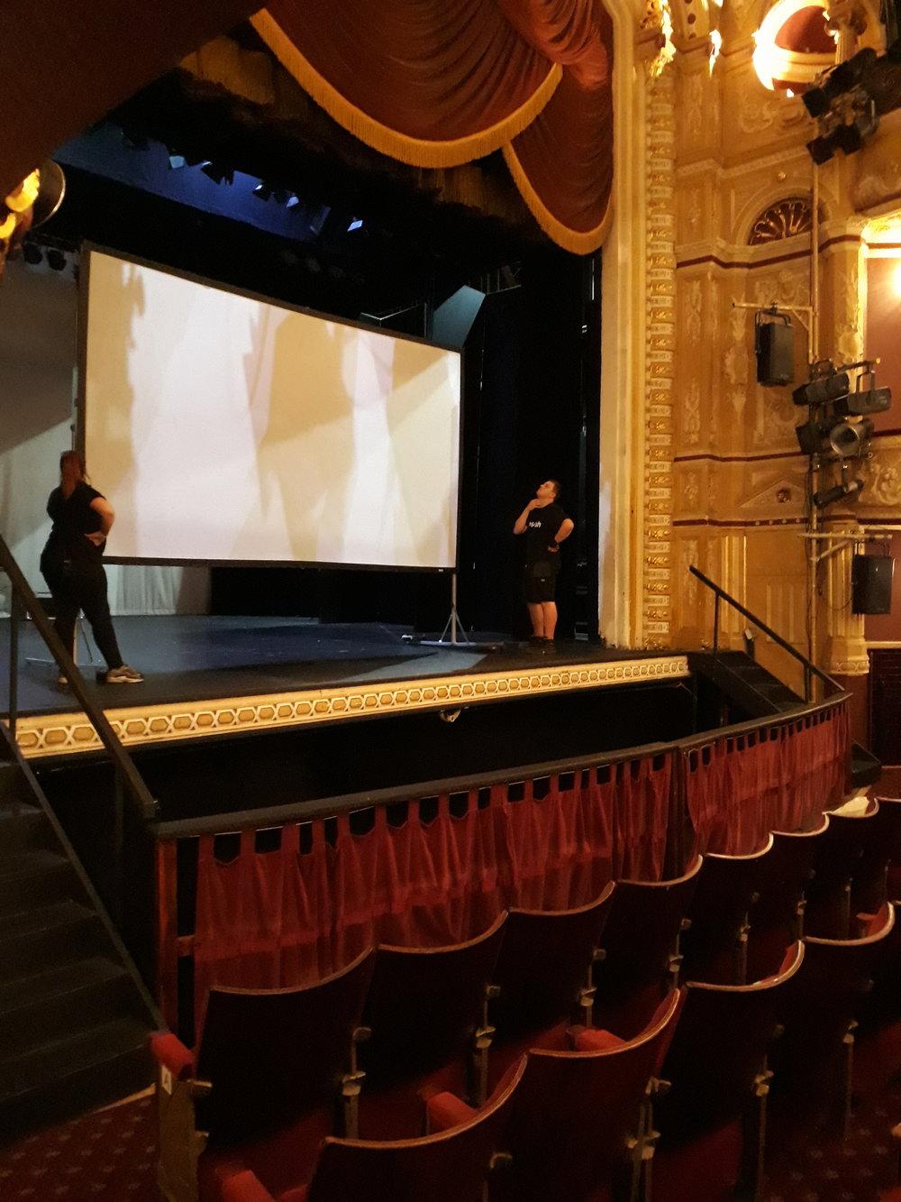 Preparing the big screen