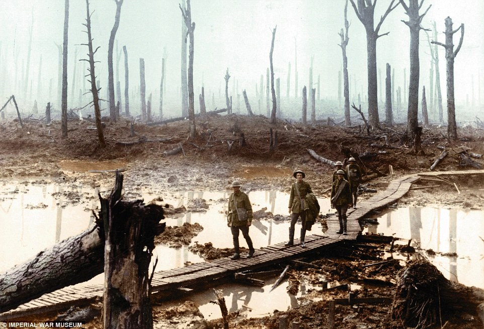 The mud and swamps of Passchendaele