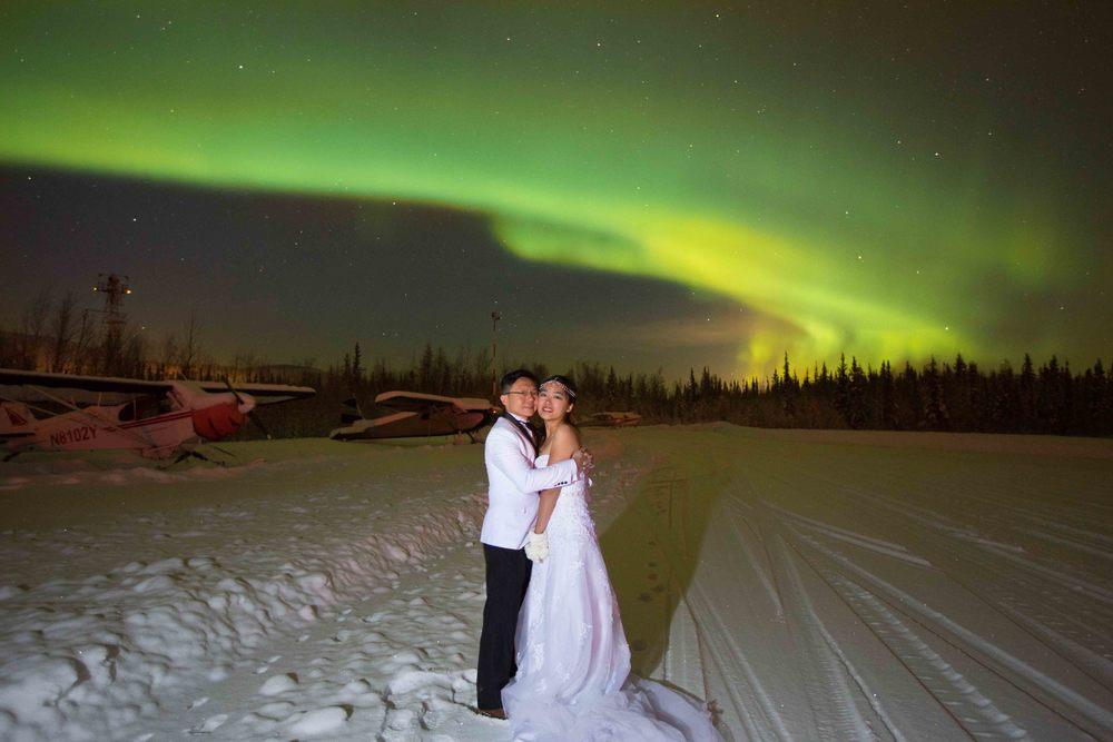Bride and Groom under Northern Lights Fairbanks Alaska 08.jpg