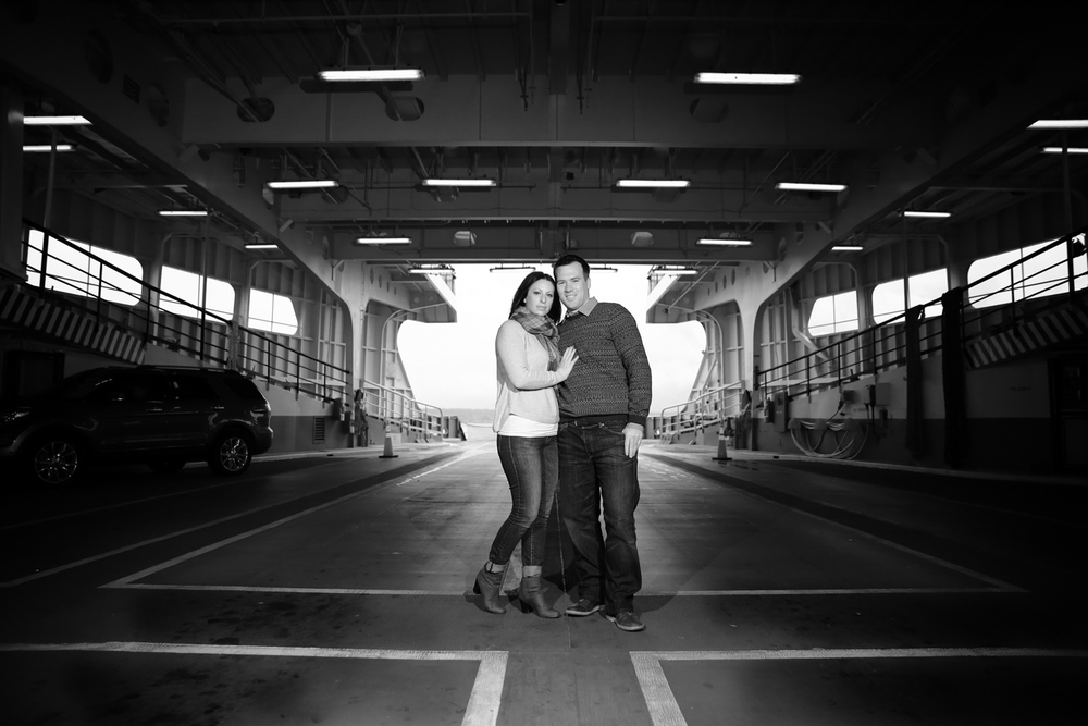 Engagement Photos on the Washington State Ferry