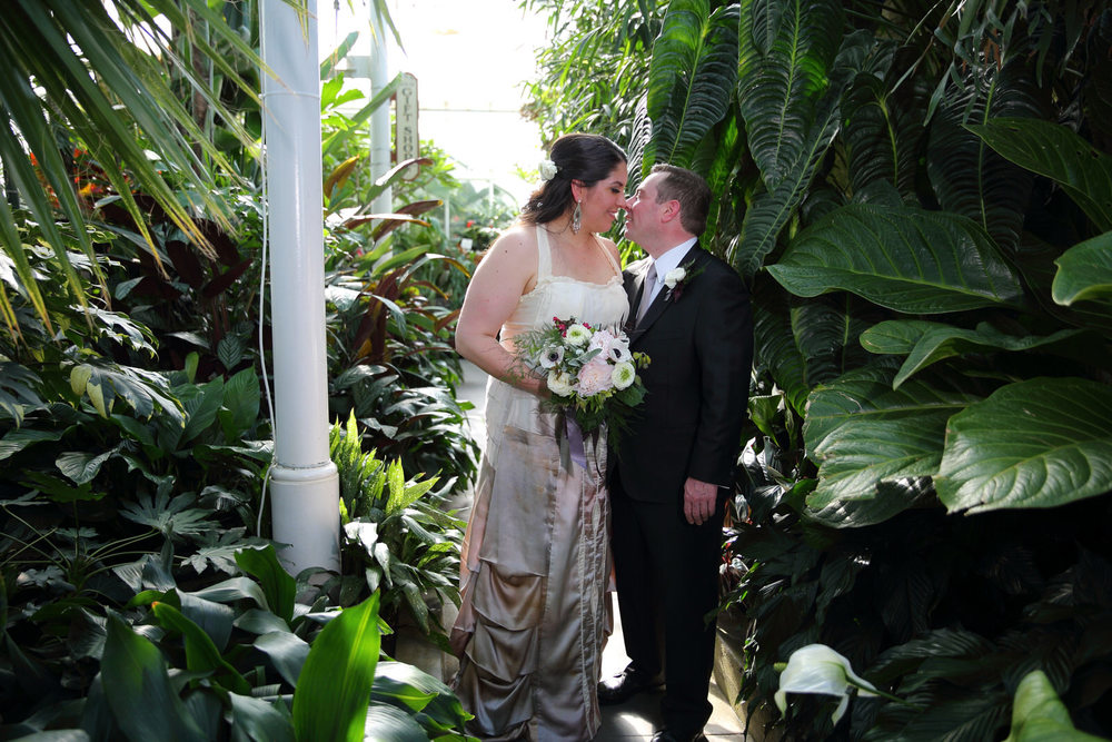 Wedding Photos Volunteer Park Conservatory Seattle