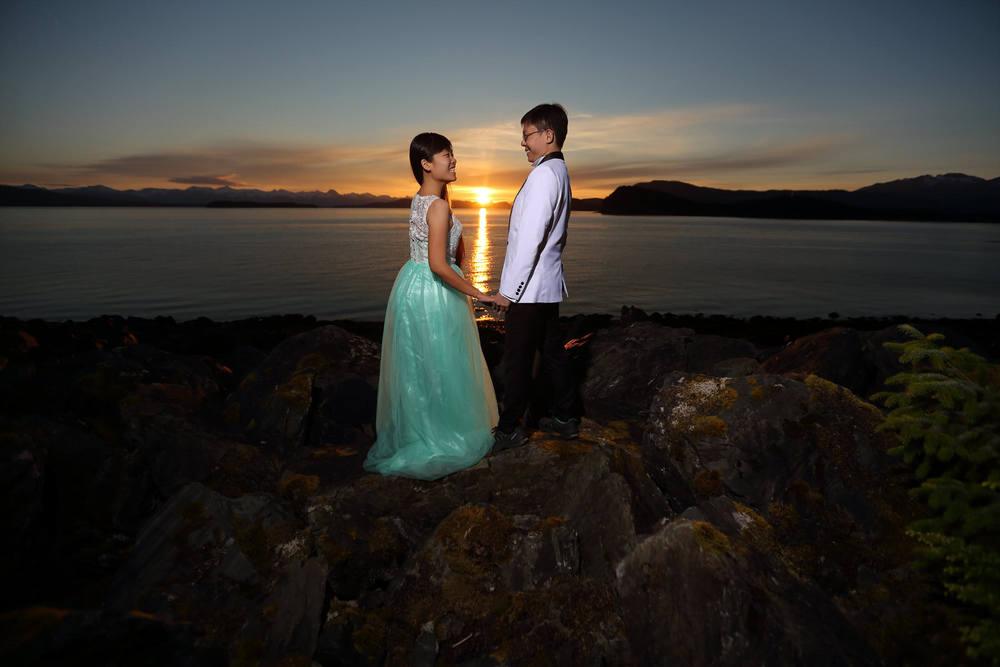 Bride and Groom Photos, Engagement Photos Juneau, Alaska.