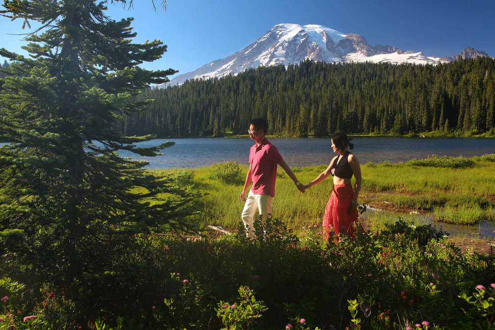 Mt Rainer Engagement Photos