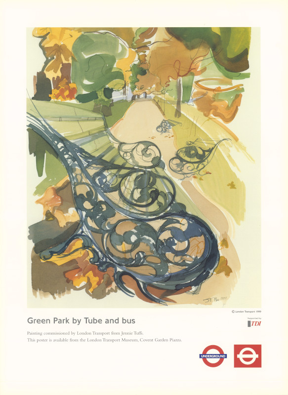 Green Park by Tube and bus 1995