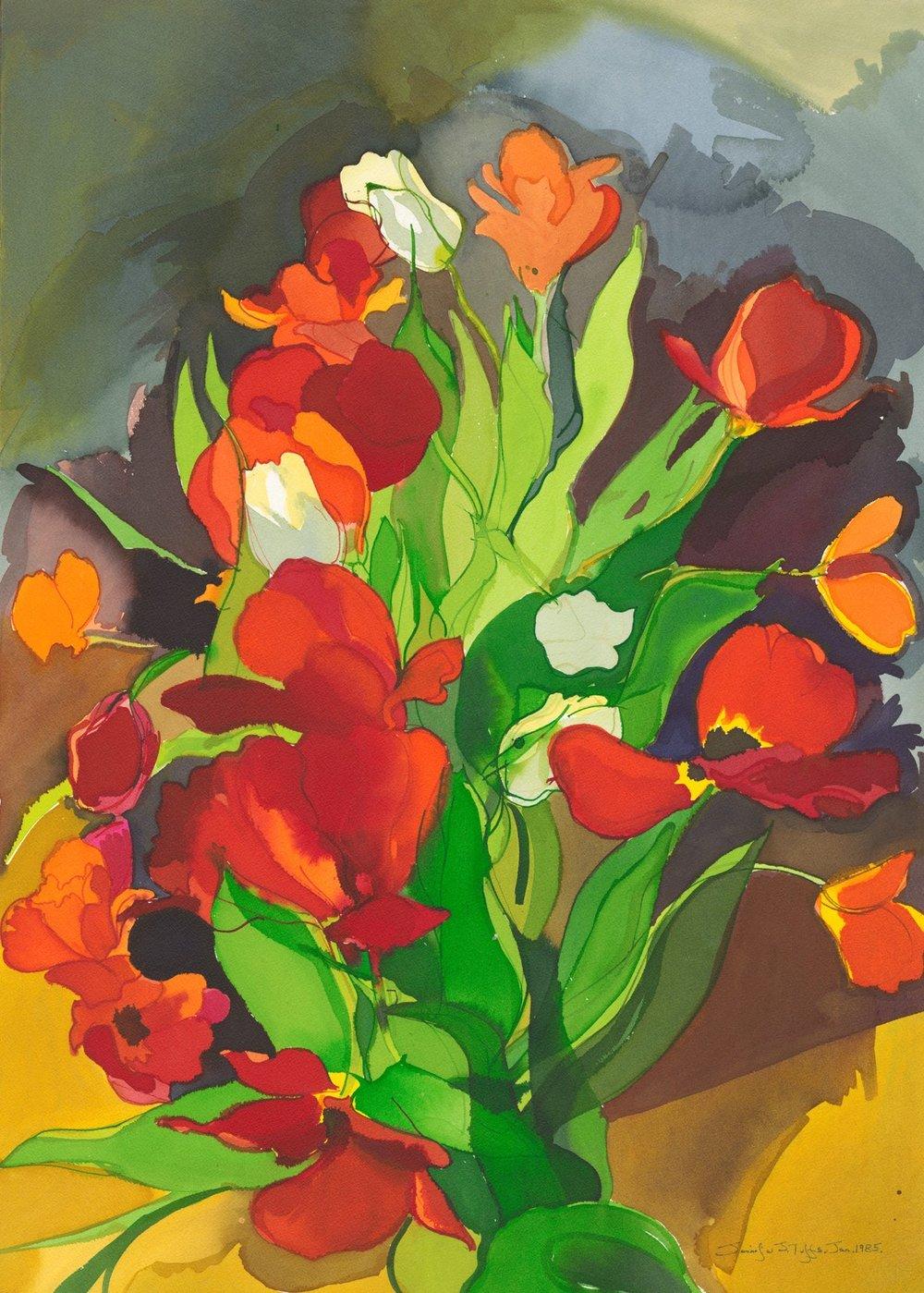 (28) Overblown Tulips