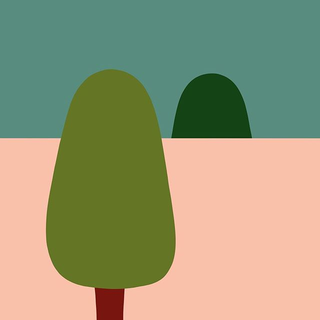 Hey Yew. . So the tree doesn't really look like a Yew. When I drew this, the thought in my head was one tree looking over a wall at another tree. The title came later, and I wasn't going to come up with anything better than 'Hey Yew', so forgive the botanical inaccuracy. ⠀ .⠀ I also suggest listening to Can - Vitamin C, if only for the fact that they say 'Hey You' a lot, and it's an amazing song. ⠀ .⠀ .⠀ #heyyew #iftreescouldtalk #illustration #procreate
