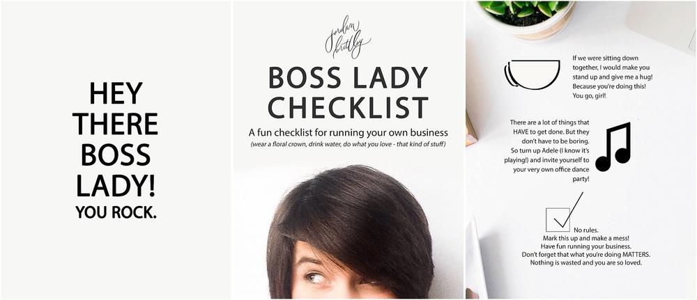 A checklist for the Boss Ladies - The Jordan Brittley Blog (www.jordanbrittleyblog.com)