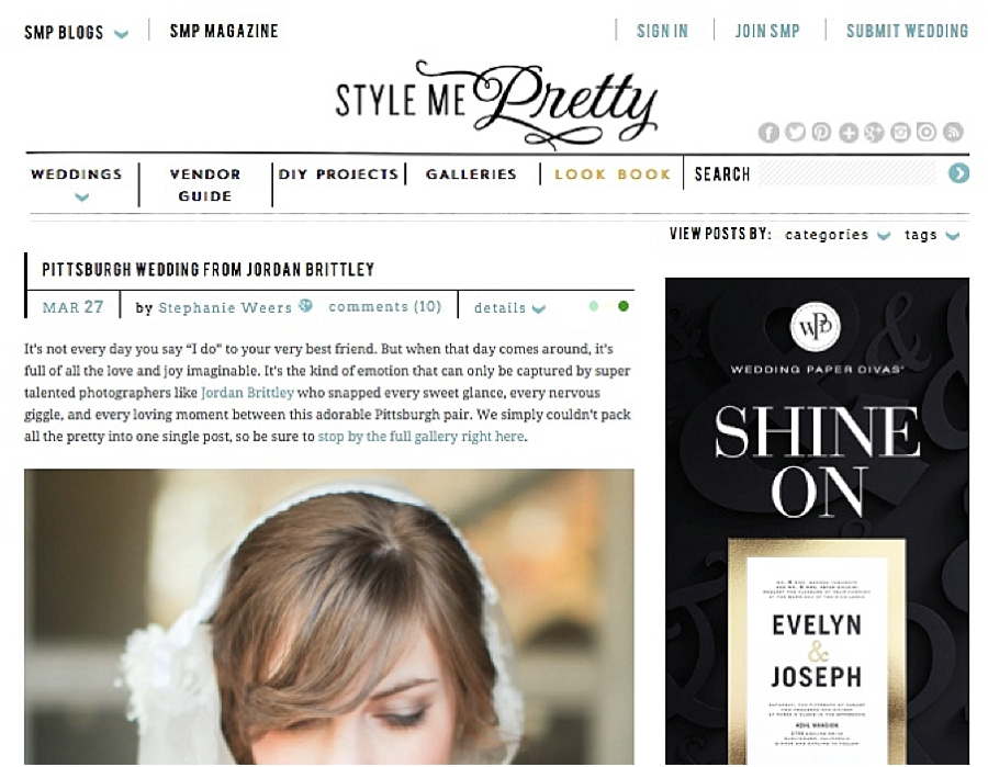 Getting Published on Style Me Pretty - Photo Tips