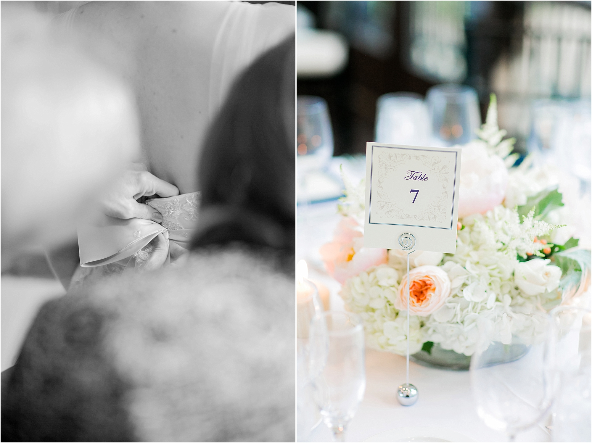 Bridal and Reception Details photographed with the Canon 85mm 1.2